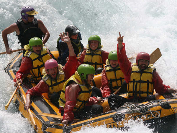 July: River rafting in Along