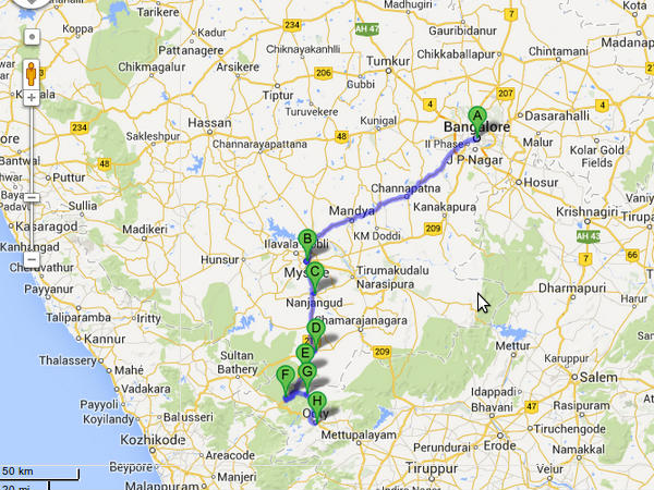 route map from bangalore to ooty An Exciting Road Trip From Bangalore To Ooty Nativeplanet route map from bangalore to ooty