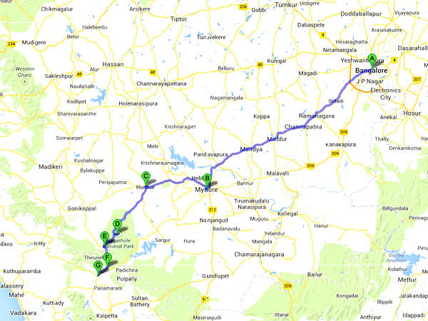 Road Trip from Bangalore to Wayanad via Nagarhole