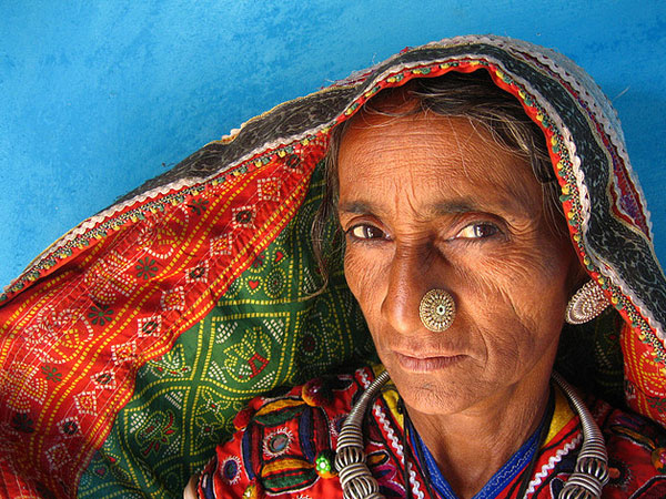 A Lady In the Traditional Attire of the Meghwal Village, Gujarat