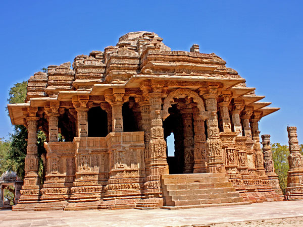 The Sun Temple in Modhera, Gujarat