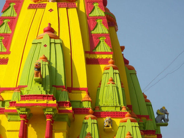 Colourful Temple Roof