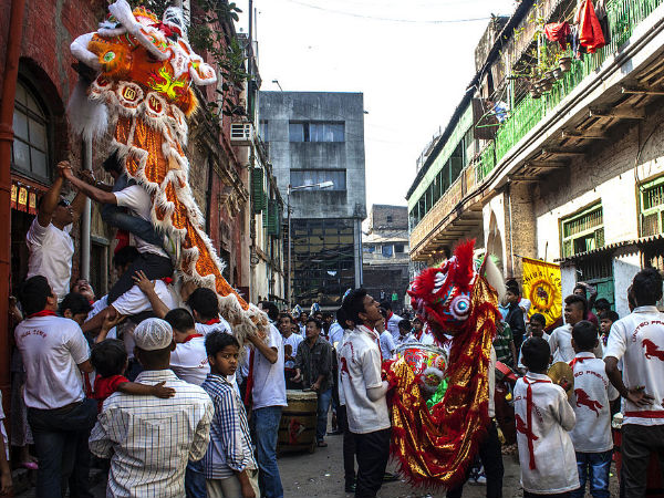 Preparations for a Colourful Procession