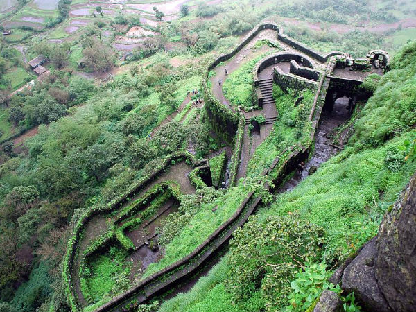 The Lower Ramparts of Lohagad Fort