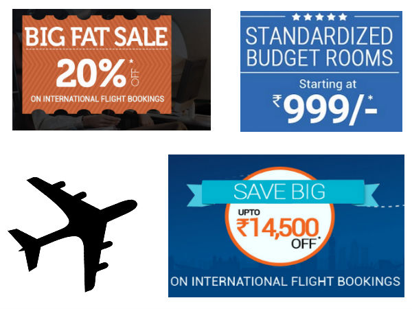 International flights discount coupons
