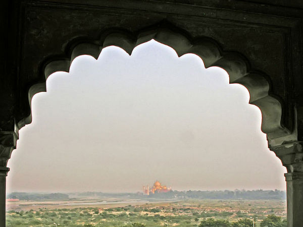 A View of Taj Mahal From the Fort