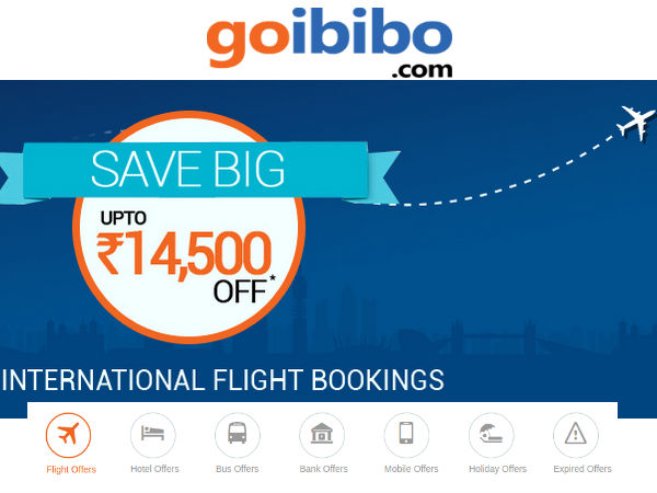 Goibibo international flight coupons 2019