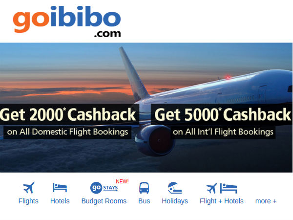 Flights and hotels! Goibibo offers bookings on both domestic and international flights. You can search and compare and book hotels and holidays through Goibibo. The website is easy to use and gives you different options for flight bookings; you can check date and even book tickets for a round trip. There is a flight and hotels combo available/5().