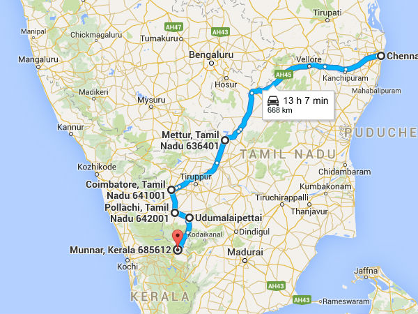 chennai to coimbatore bus route map A Mystifying Road Trip From Chennai To Munnar Nativeplanet chennai to coimbatore bus route map