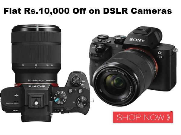 Flat Rs.10,000 Off on DSLR Cameras