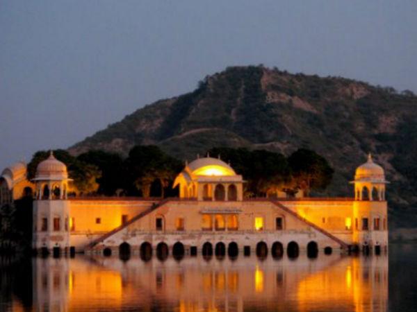 The Beautified Jal Mahal in Jaipur