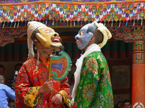 Rejoicing at Hemis Festival in Ladakh