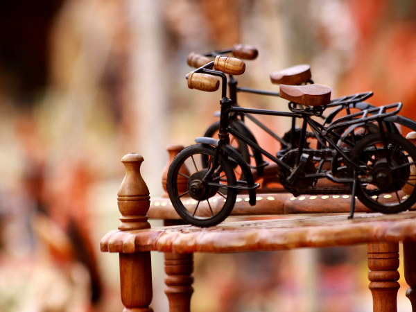 handicraft model of a bike