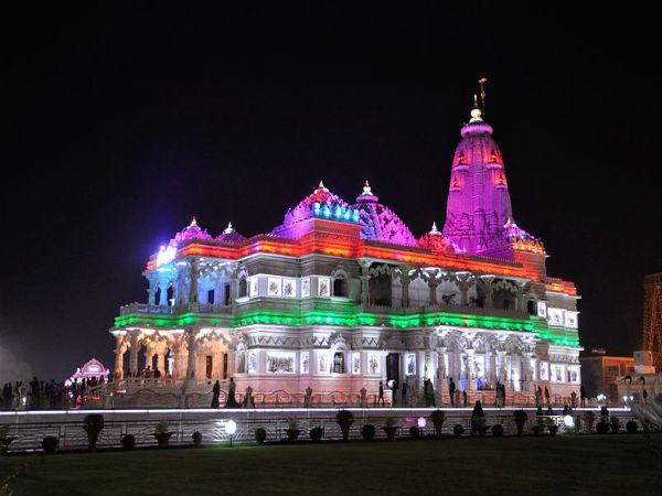 Prem Mandir In Vrindavan The Temple Of Divine Love Nativeplanet