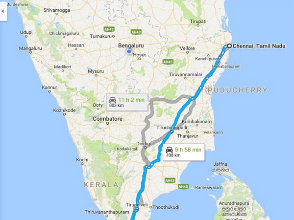 Chennai To Kanyakumari - A Jaunt to Remember