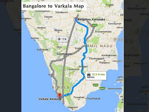Bangalore To Varkala Travel Guide