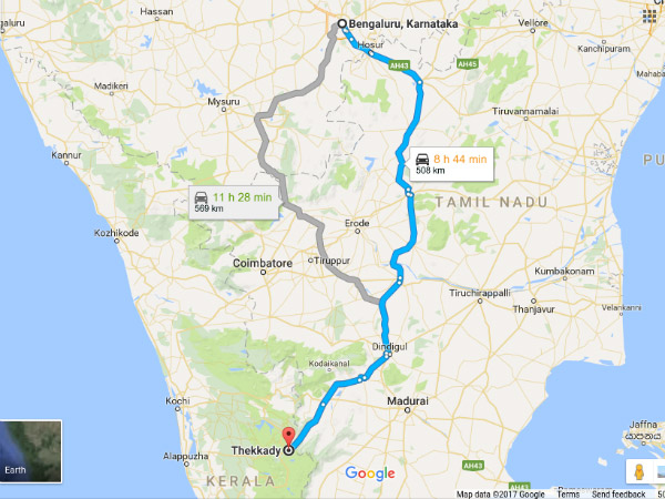 roadtrip from bengaluru to thekkady