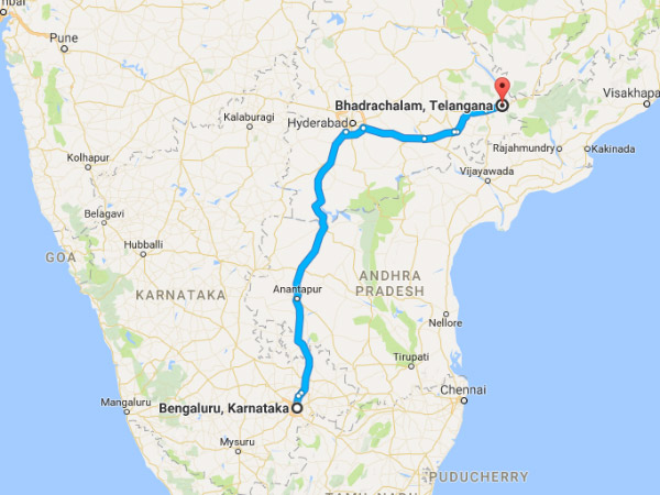 Bengaluru To Bhadrachalam: A Route Map