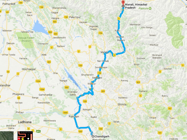 Places To Visit From Chandigarh To Manali