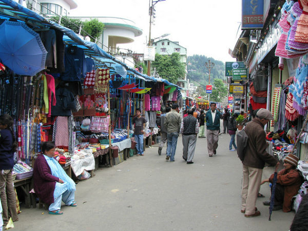 Mall Road In Darjeeling