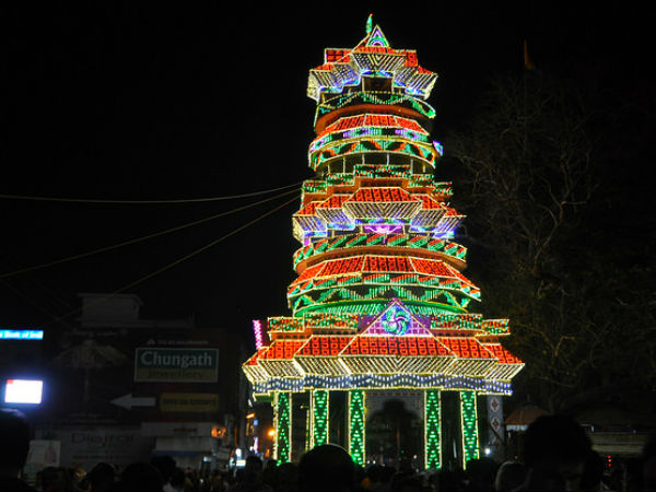 thrissur pooram in kerala