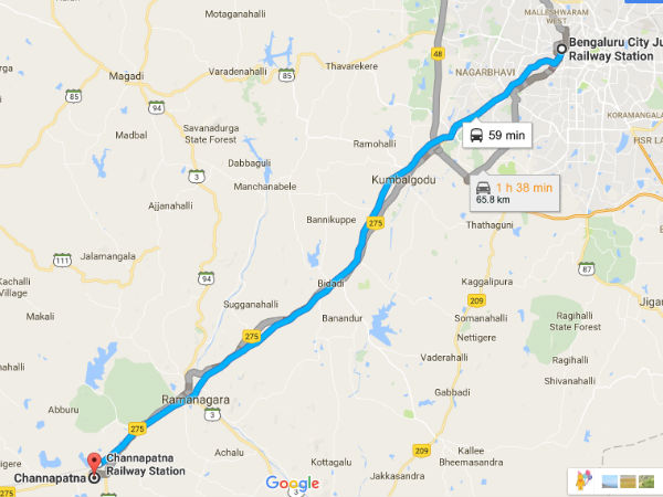 Different Routes To Reach Channapatna