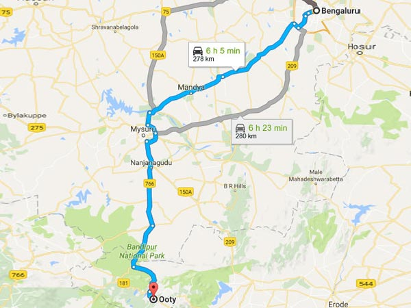 How To Reach Ooty From Bangalore