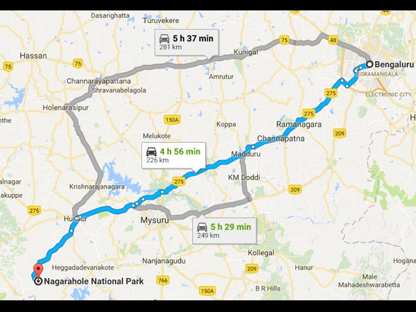 Routes From Bangalore To Nagarhole