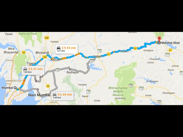 Routes From Mumbai To Malshej Ghat