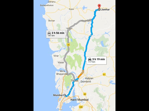 Routes From Mumbai To Jawhar