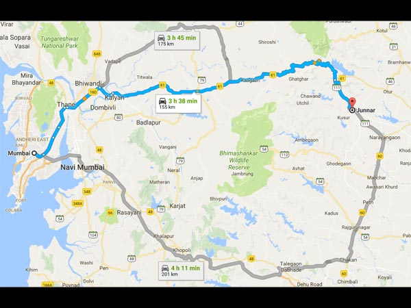 Routes From Mumbai To Junnar