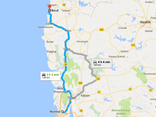 Routes From Mumbai To Bordi