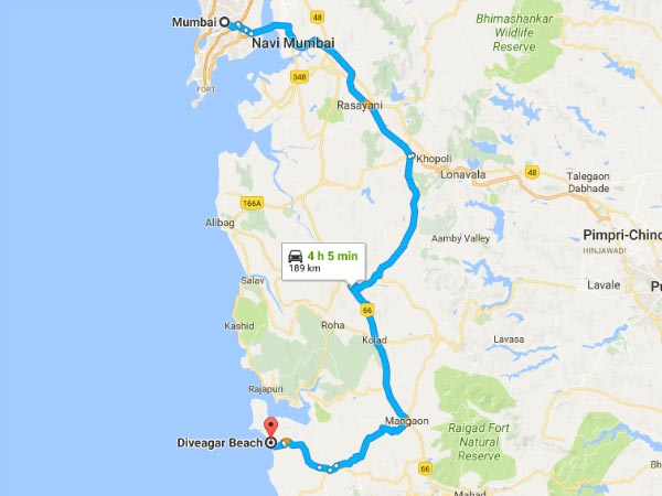 Route From Mumbai To Diveagar