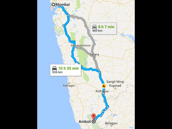 Routes From Mumbai To Amboli