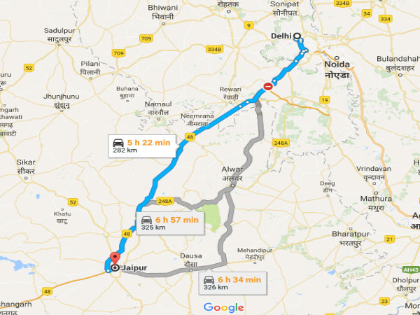 Driving Distance From Delhi