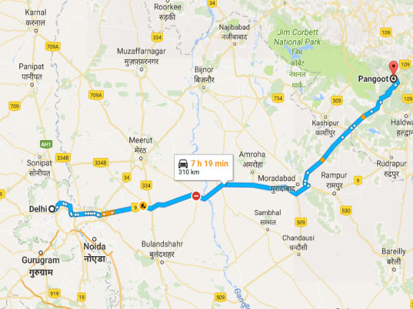 Driving Directions From Delhi