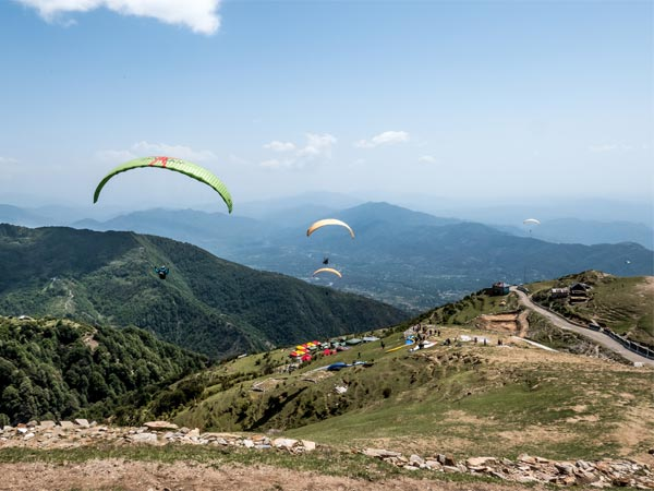 Paragliding Through The Sky