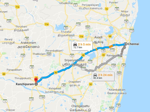 How To Reach Kanchipuram