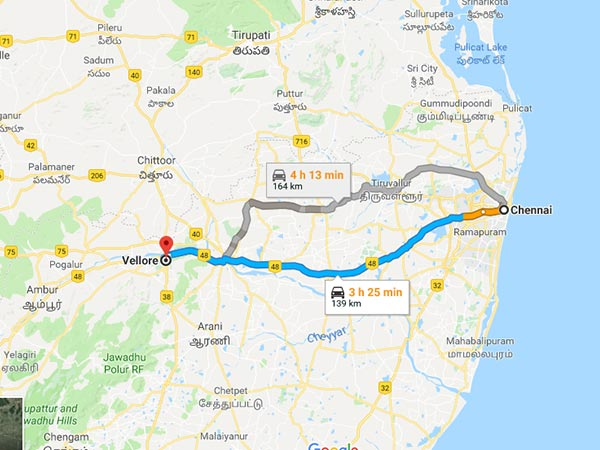 How To Reach Vellore From Chennai