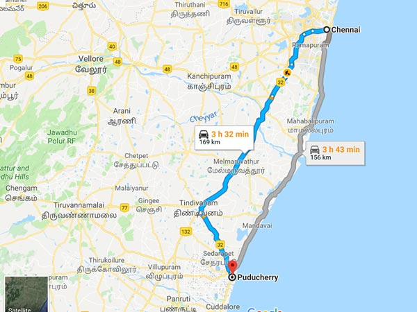 How To Reach Puducherry From Chennai