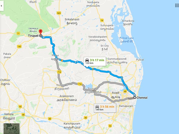 How To Reach Tirupati From Chennai
