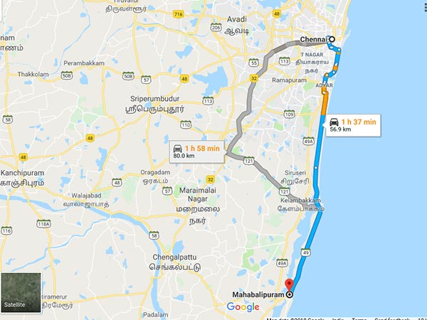 How To Reach Mahabalipuram From Chennai