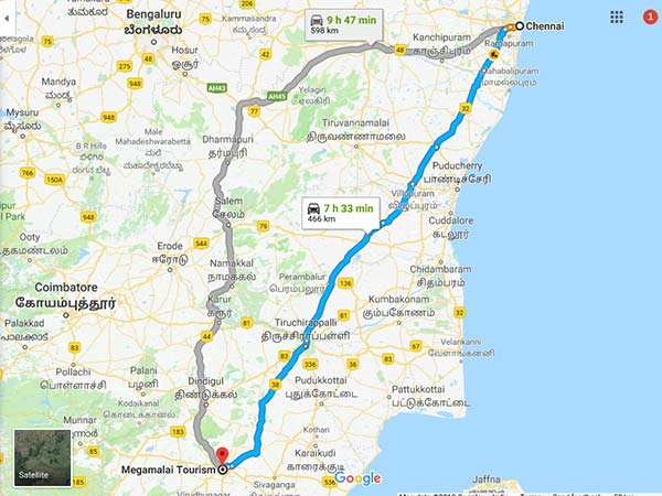How To Reach Meghamalai From Chennai