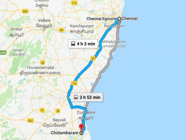 Best Route To Travel To Chidambaram