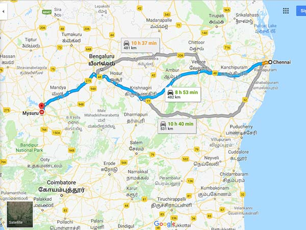 How To Reach Mysuru From Chennai