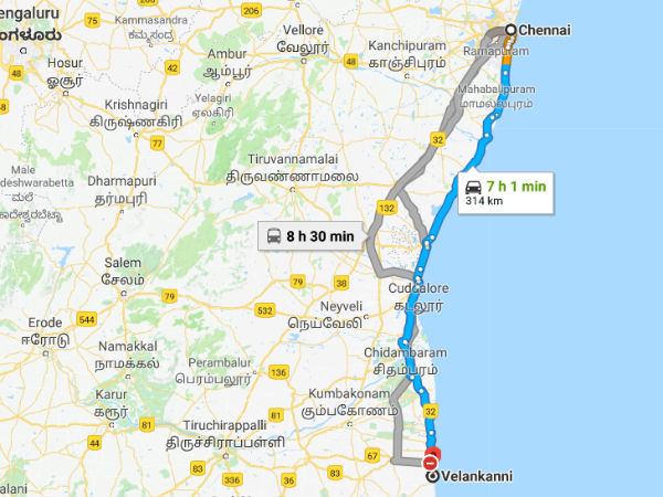 How To Reach Velankanni From Chennai