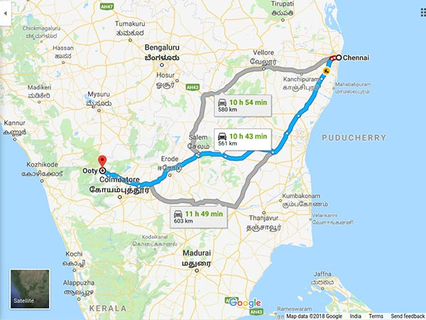 How To Reach Ooty From Chennai