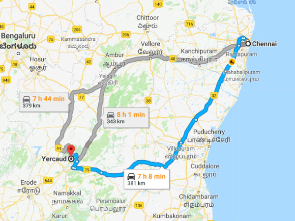 How To Reach Yercaud From Chennai
