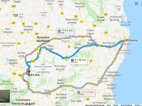 How To Reach BR Hills From Chennai