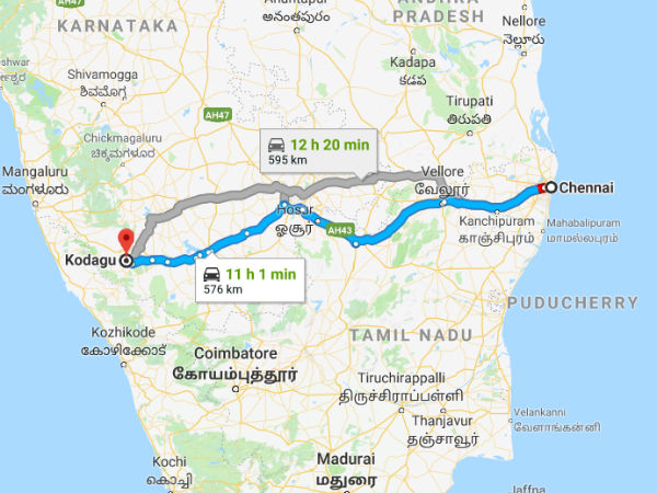 How To Reach Coorg From Chennai